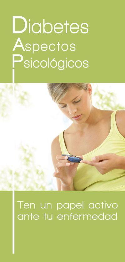 Folleto del Proyecto Emociones y Salud que detalla los aspectos psicológicos de la Diabetes.