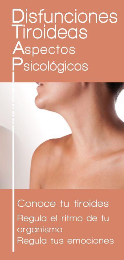 Folleto del Proyecto Emociones y Salud que detalla los aspectos psicológicos de las Disfunciones Tiroideas.
