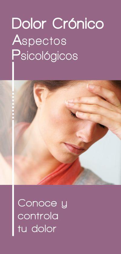 Folleto del Proyecto Emociones y Salud que detalla los aspectos psicológicos del Dolor.
