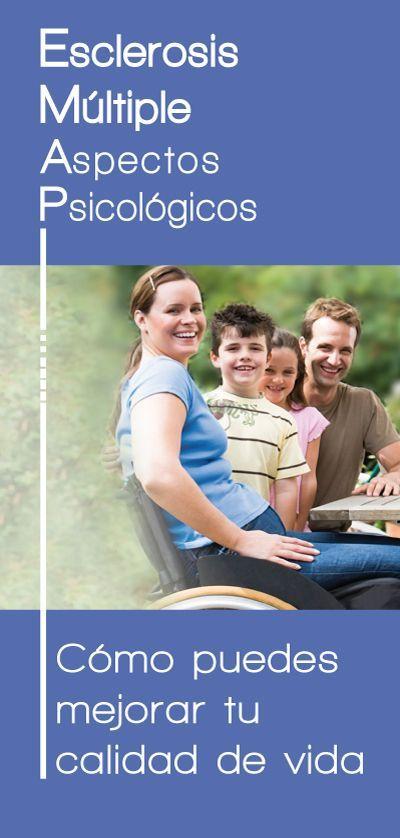 Folleto del Proyecto Emociones y Salud que detalla los aspectos psicológicos de la Esclerosis Múltiple.