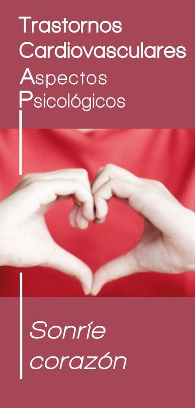 Folleto del Proyecto Emociones y Salud que detalla los aspectos psicológicos de los Trastornos Cardiovasculares.