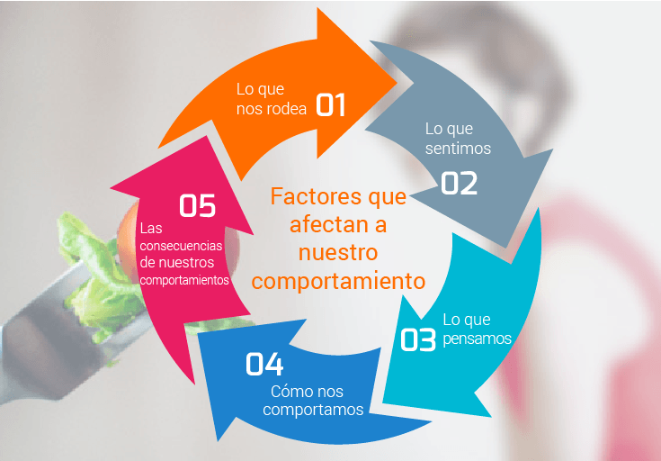 Infografía. Factores que afectan al comportamiento en trastorno de la conducta alimentaria