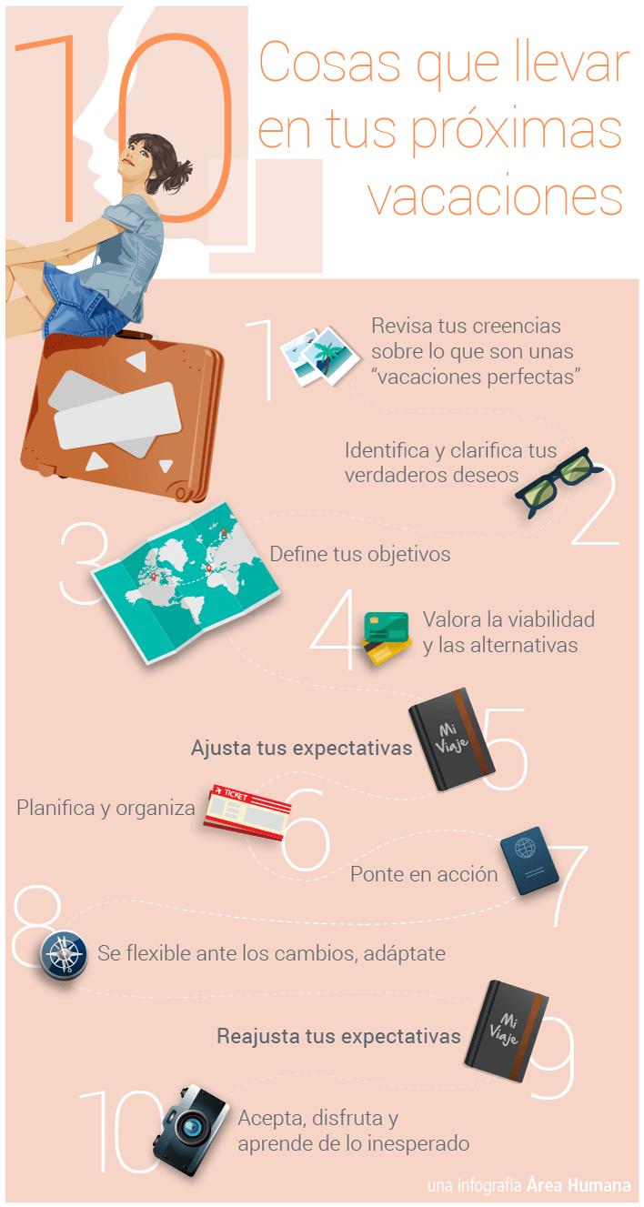 10 cosas imprescindibles en vacaciones