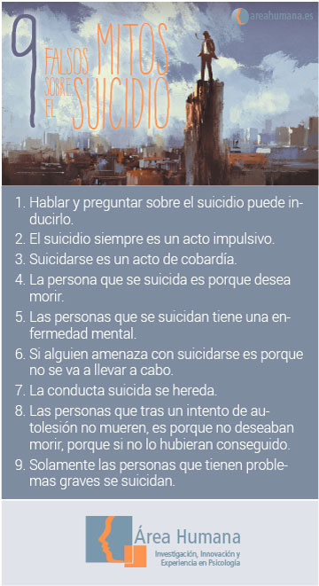 9 falsos mitos sobre el suicidio