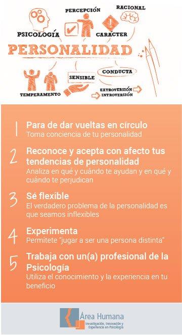 Infografía consejos para trabajar tu personalidad