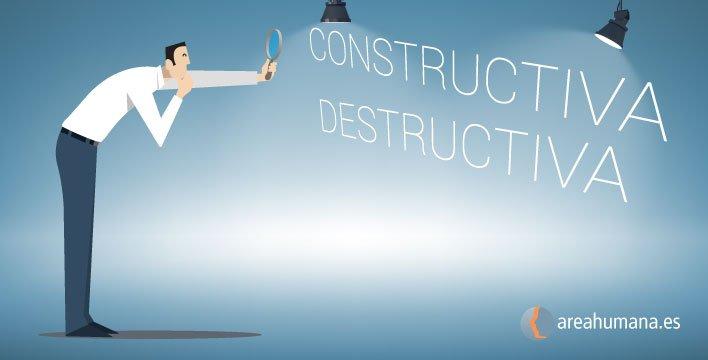 Diferencias entre crítica constructiva y crítica destructiva