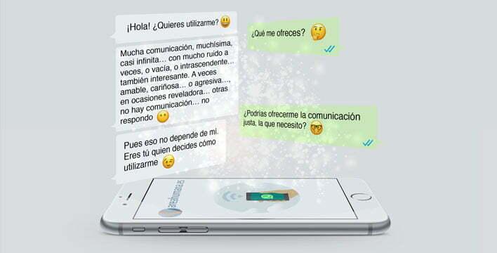 Conversación a través de whatsapp