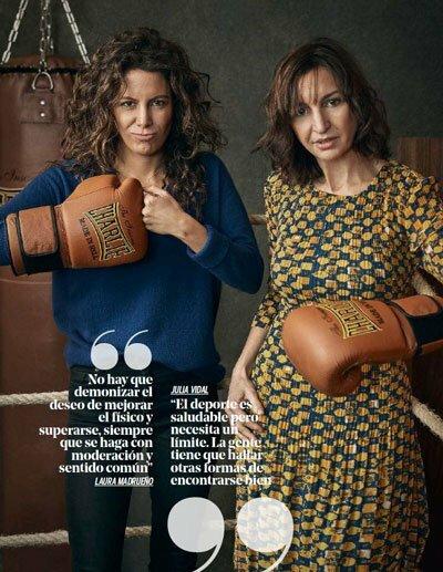 Julia Vidal y Laura Madrueño en Yo Dona sobre deporte