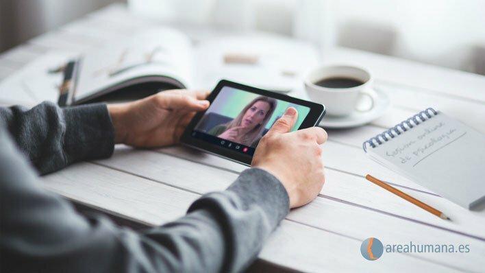 Psicología online en dispositivo móvil