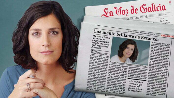 Marta de la Fuente en la Voz de Galicia
