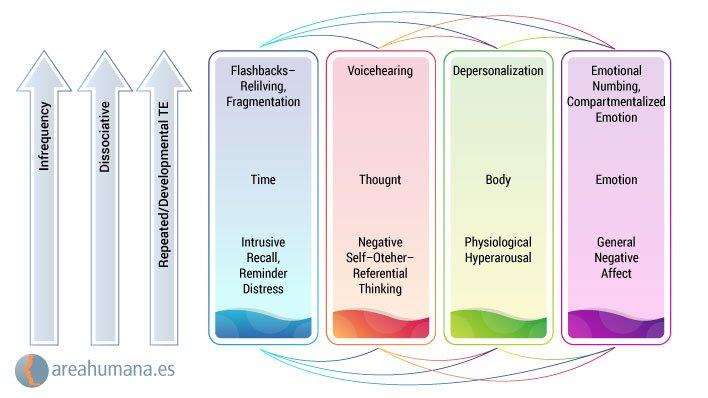 Modelo dimensiomal 4D de la disociación