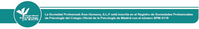 Sociedad Profesional inscrita en Colegio Oficial de la Psicología de Madrid