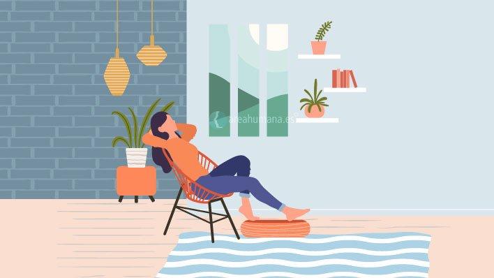 Mujer en estado de relajación