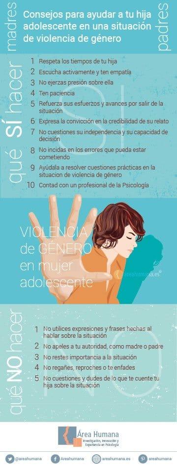 Consejos para padres en una situación de violencia de género de hija adolescente